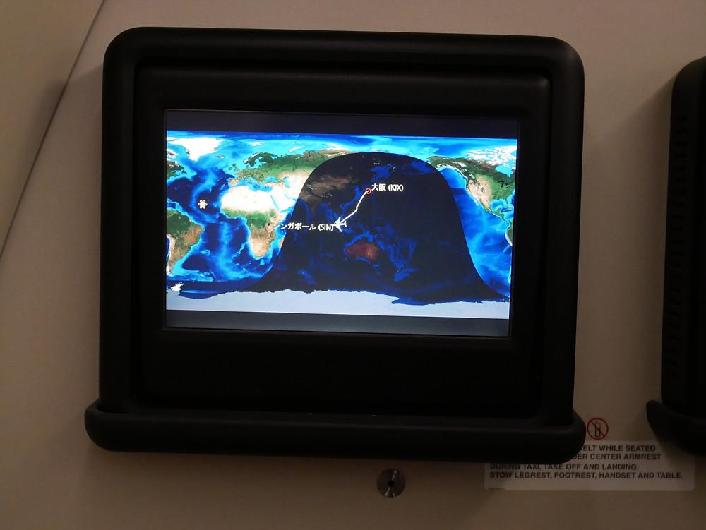 シンガポール航空 ビジネスクラス ディスプレイ