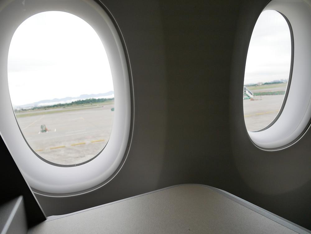  香港航空 A350 ビジネスクラス 窓