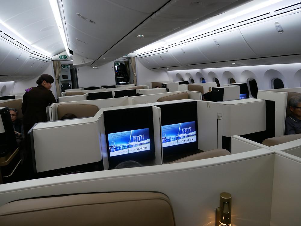 エティハド航空 ビジネスクラス 機内