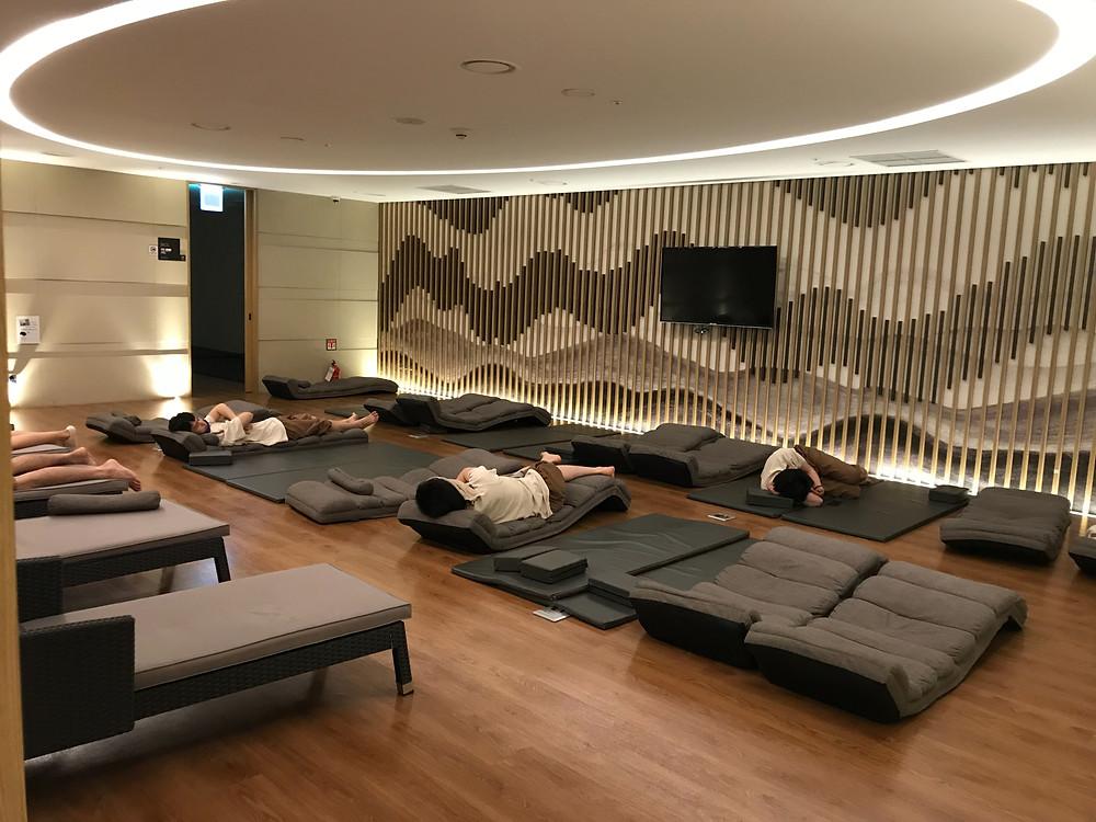 仁川空港 SPA ON AIR 休憩室