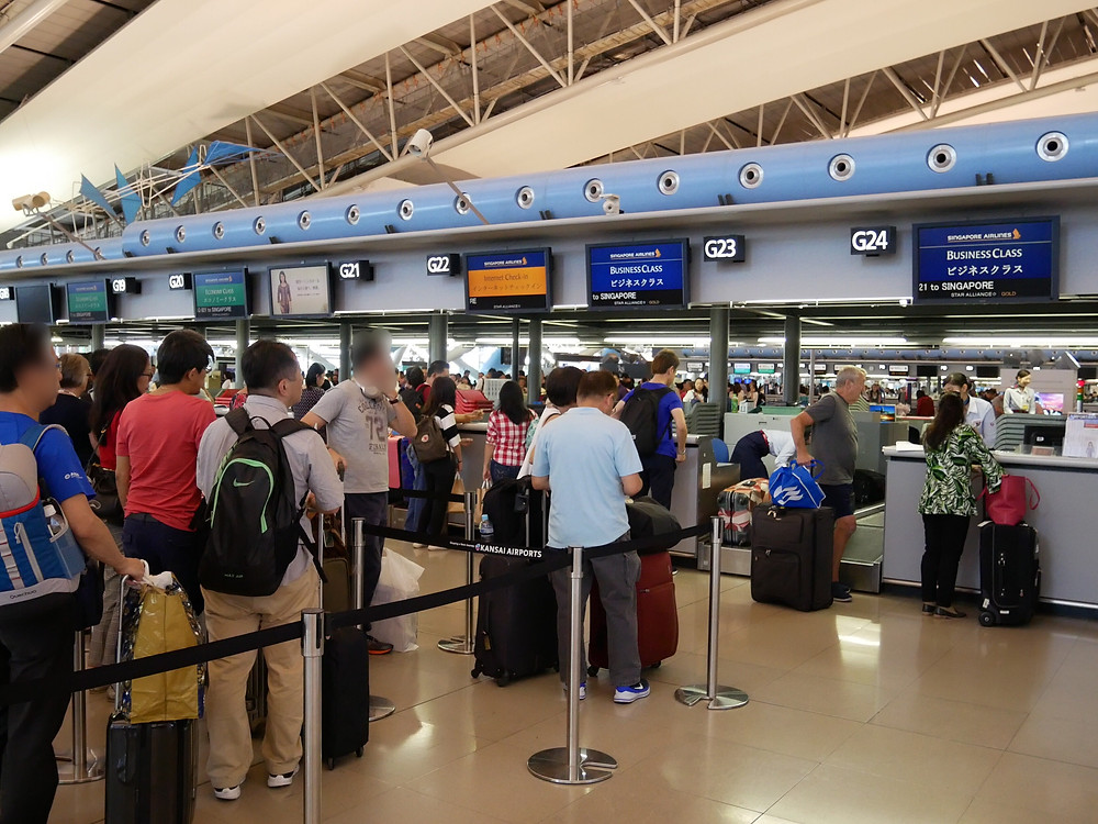 シンガポール航空 関西空港 チェックインカウンター