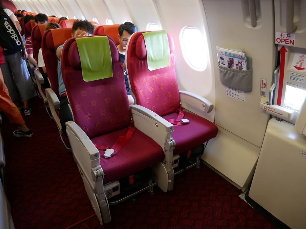 香港航空 エコノミークラス 座席