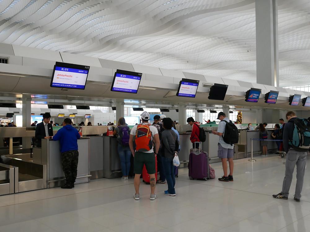 香港国際空港 ジェットスター・パシフィック チェックインカウンター