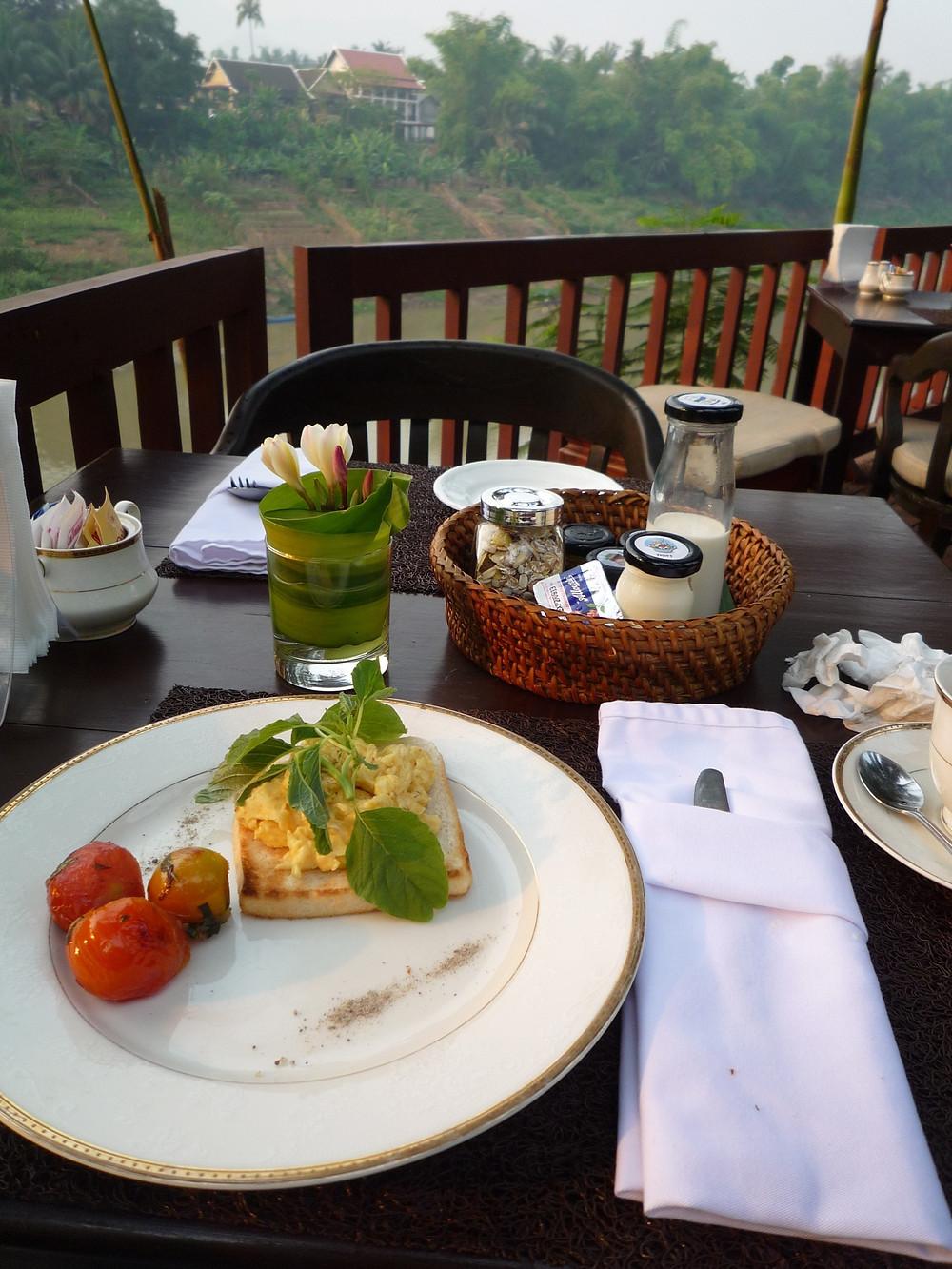ルアンパバーン 朝食