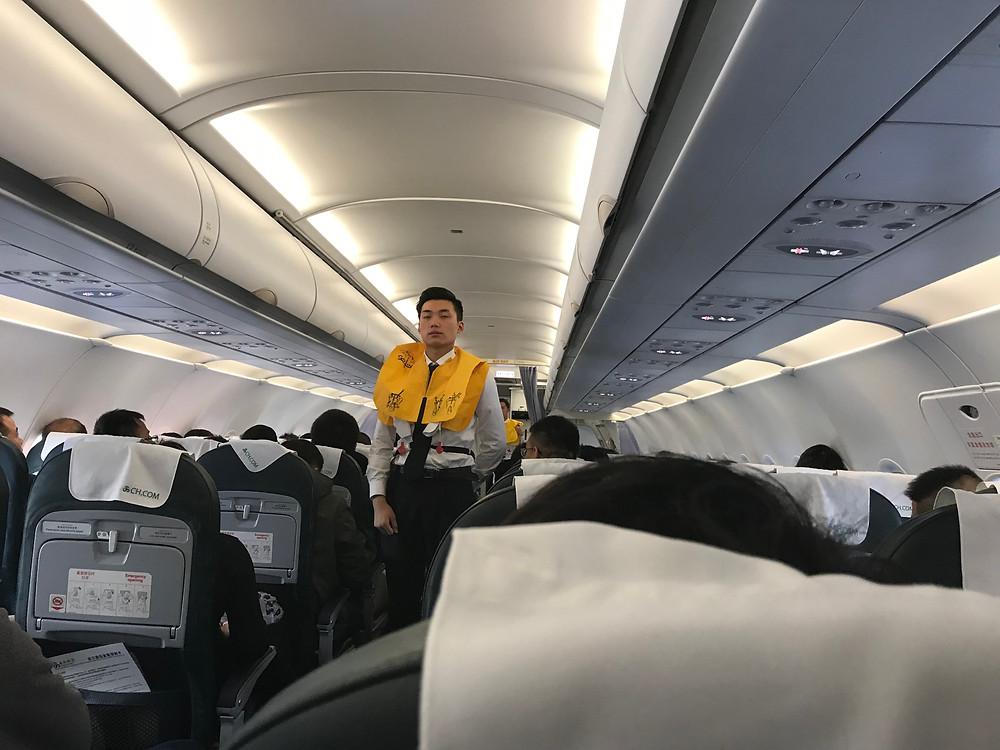 春秋航空機内