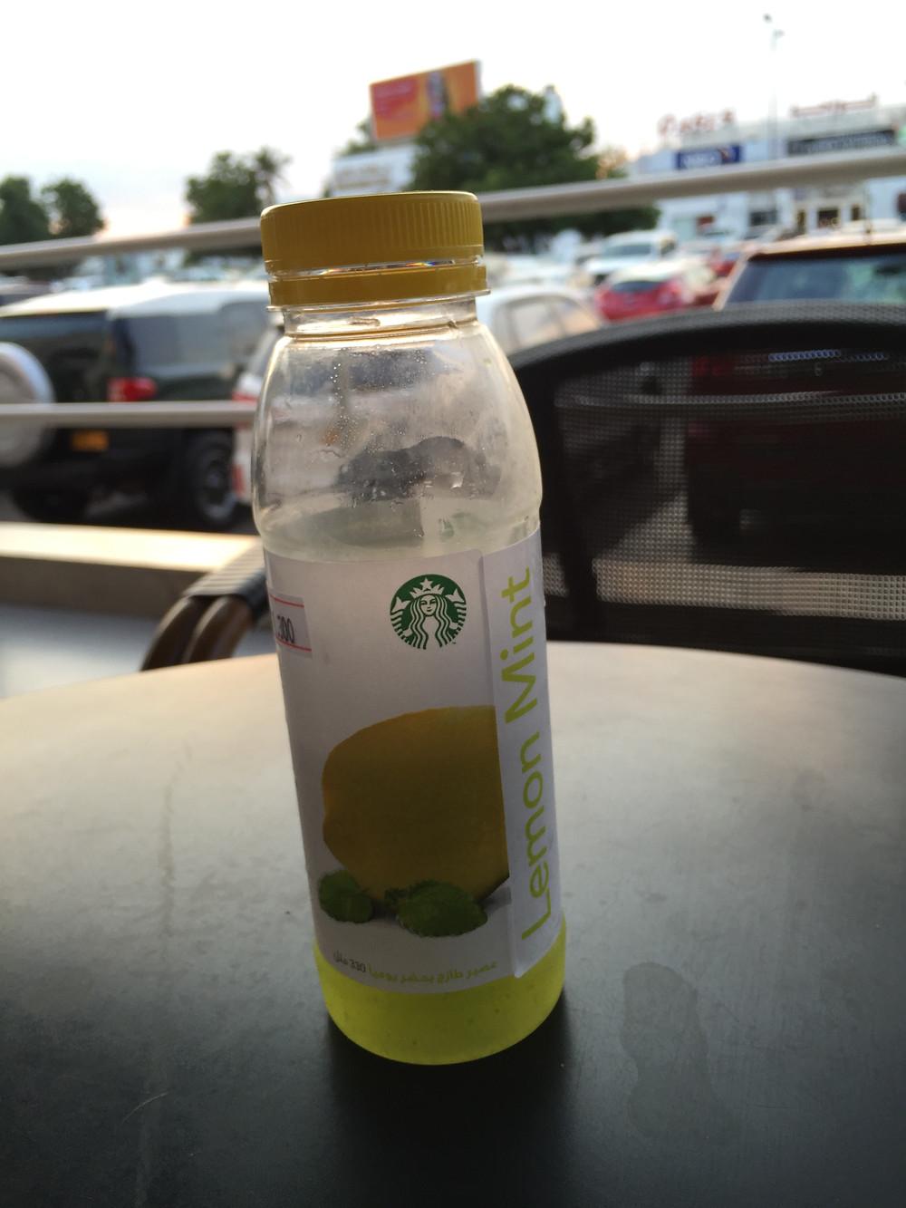 スタバのレモンミントジュース