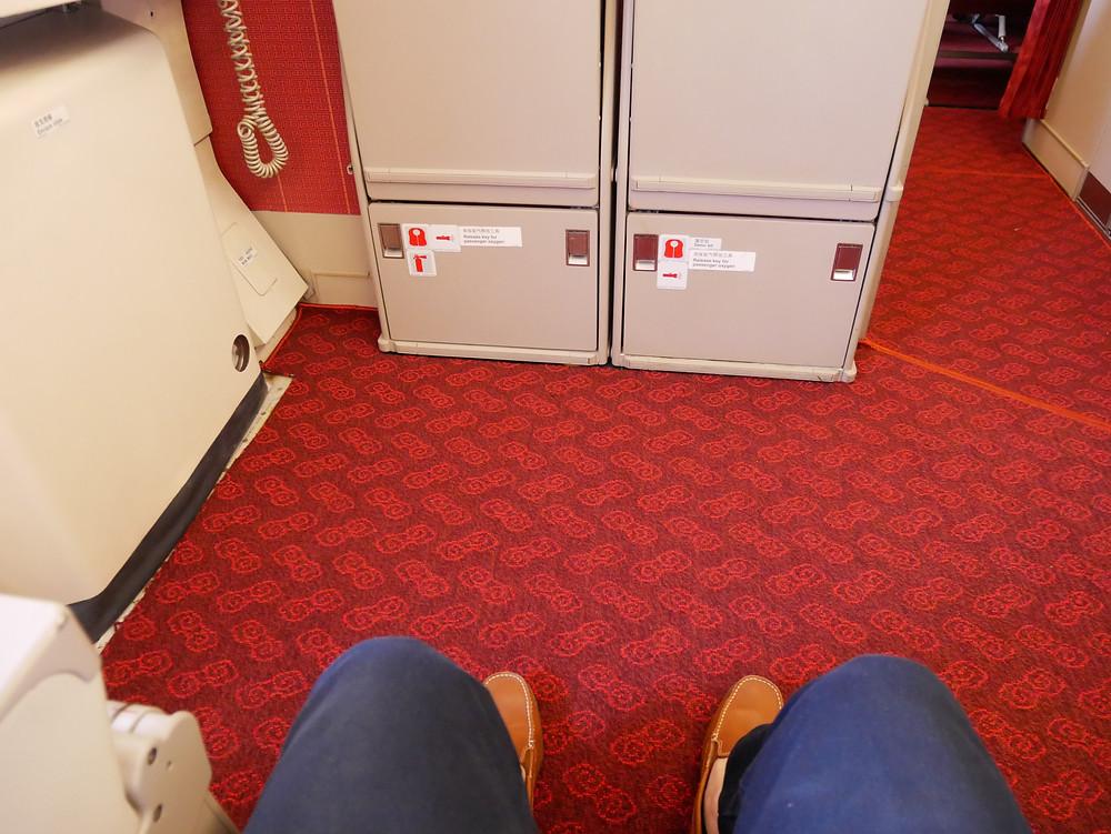香港航空 エコノミークラス 非常口座席