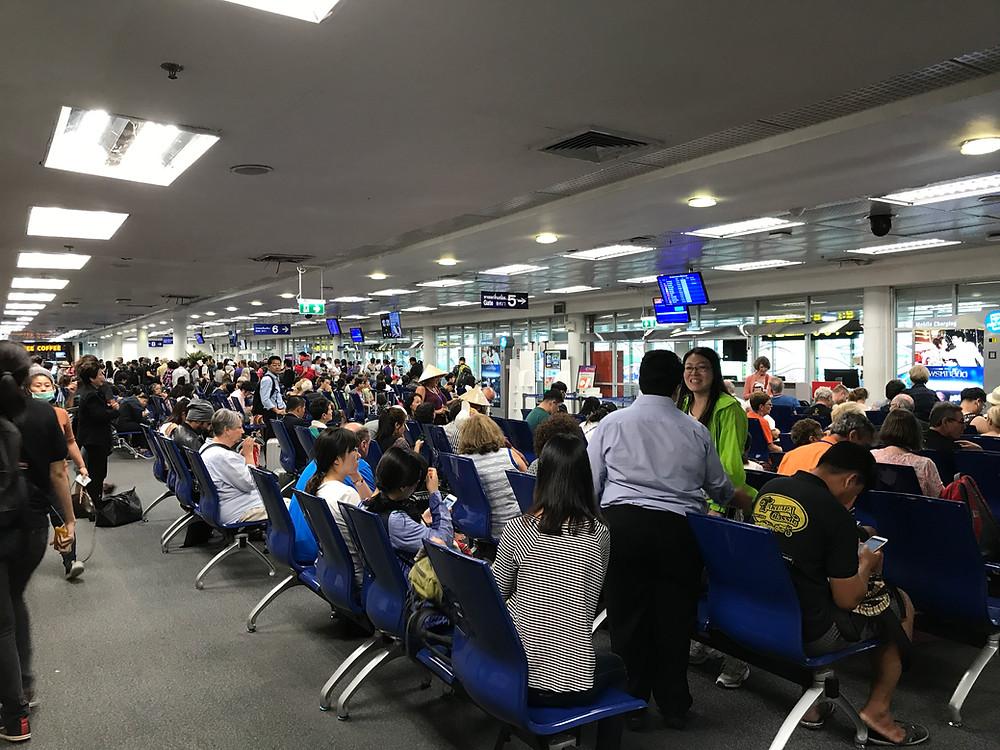 チェンマイ国際空港 出発ロビー