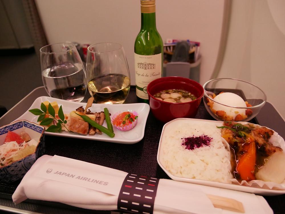 JAL 金浦ー羽田 ビジネスクラス 機内食