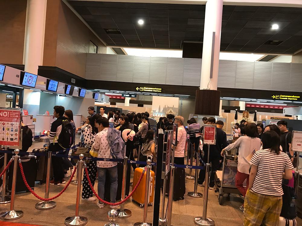 バンコク ドンムアン空港 エアアジアチェックインカウンター