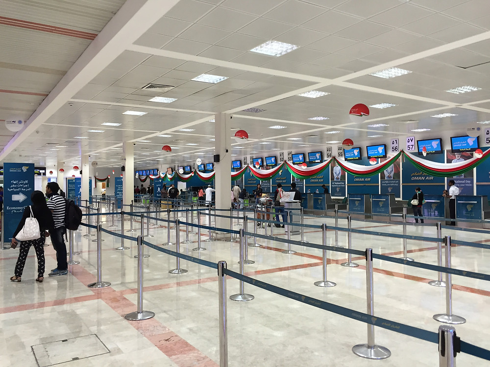 Muscat airport check in area