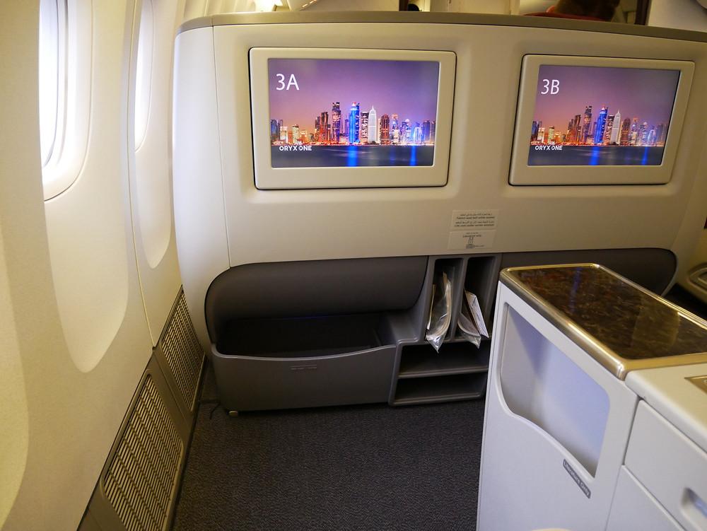 カタール航空 ビジネスクラス 座席