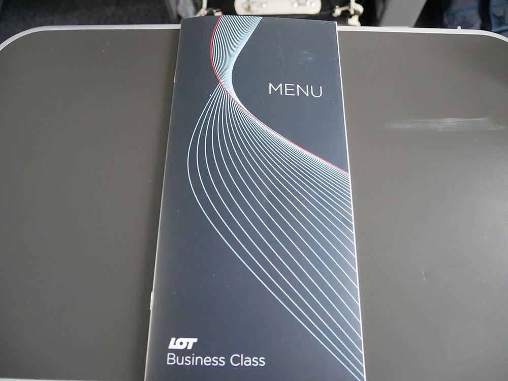 LOTポーランド航空 ビジネスクラス メニュー