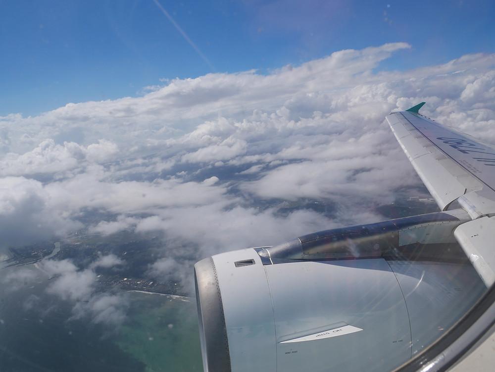 飛行機からの外の景色