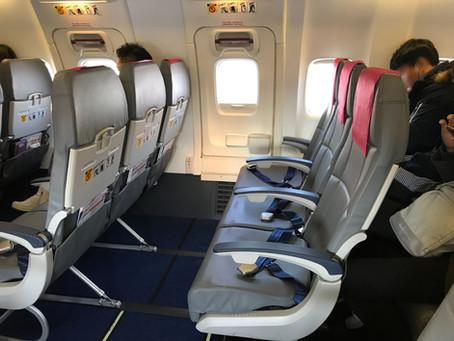 t'way 航空 (ティーウェイ航空)エコノミークラス搭乗記 大邱~成田 2018年11月