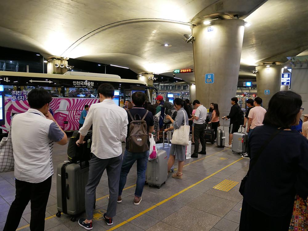 仁川空港 6Aバス乗り場