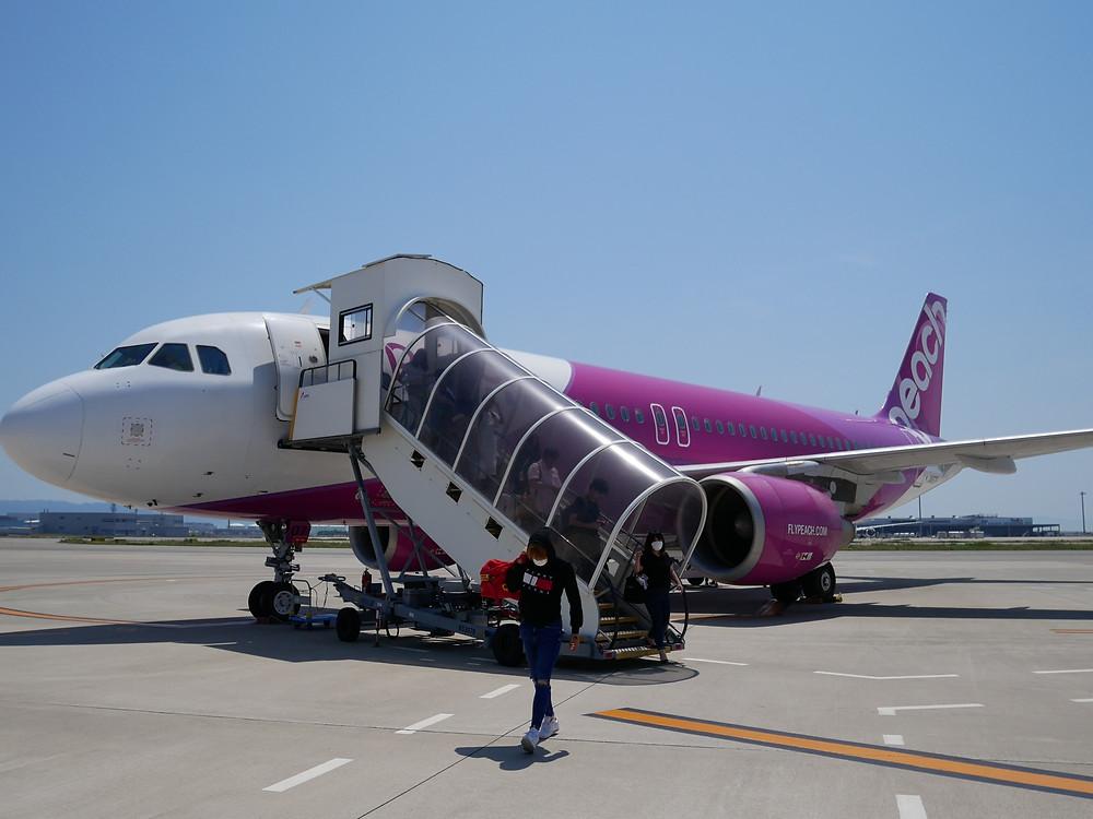 ピーチ 成田~関西 関空到着 A320