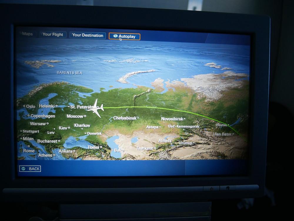 LOTポーランド航空 ビジネスクラス モニター
