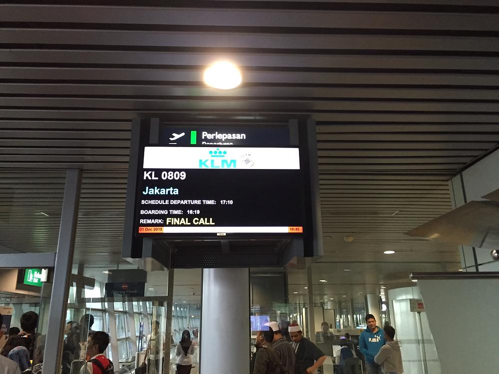 KLM 搭乗口