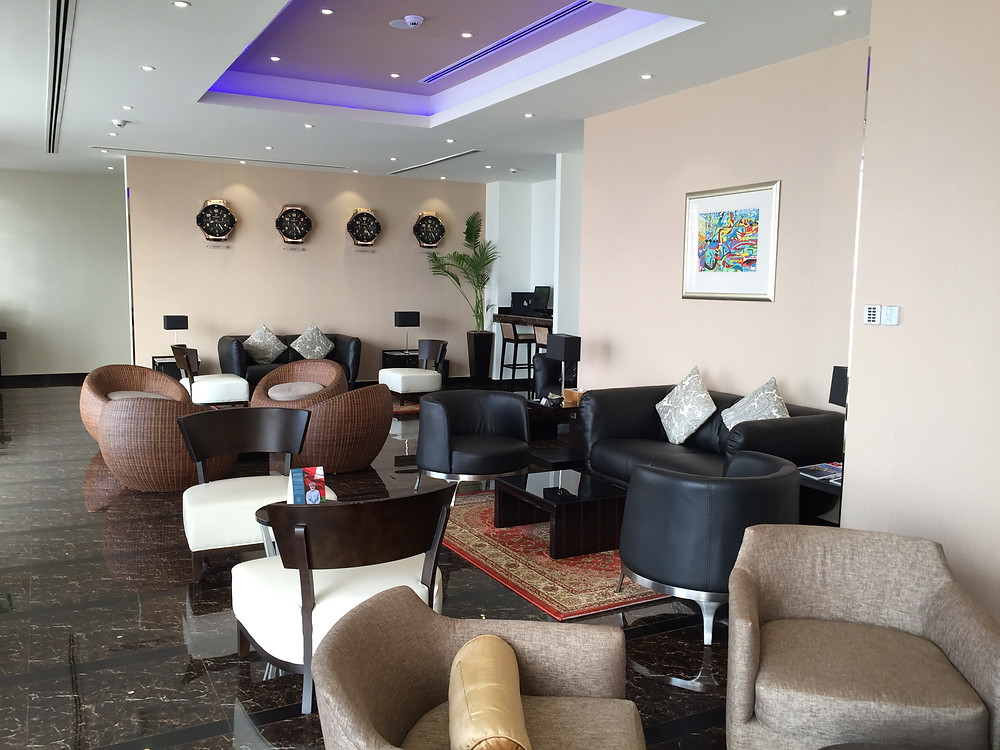 Oman air business class lounge
