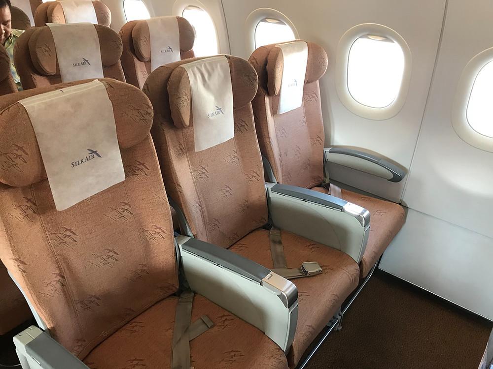 シルクエアー A320 エコノミークラス