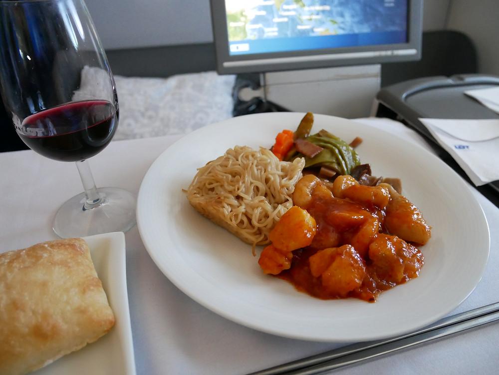 LOTポーランド航空 ビジネスクラス 機内食