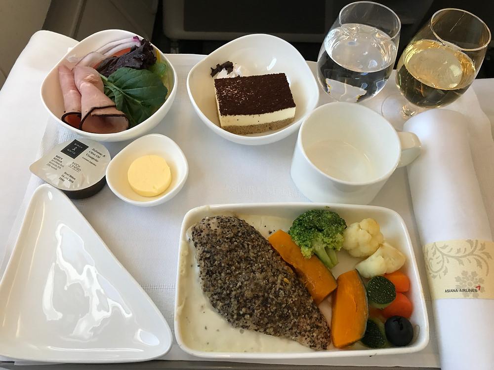 アシアナ航空ビジネスクラス 機内食