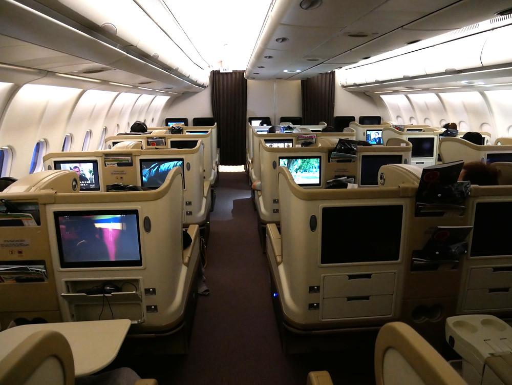 シンガポール航空 ビジネスクラス A330 機内