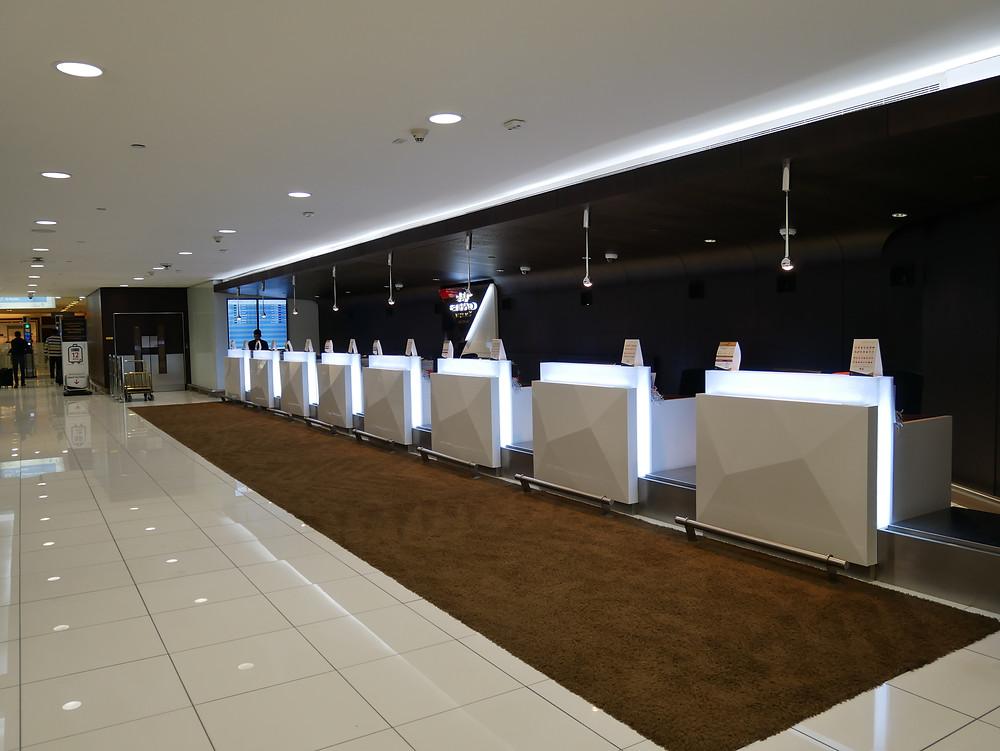 アブダビ空港 ターミナル3 プレミアムチェックインエリア