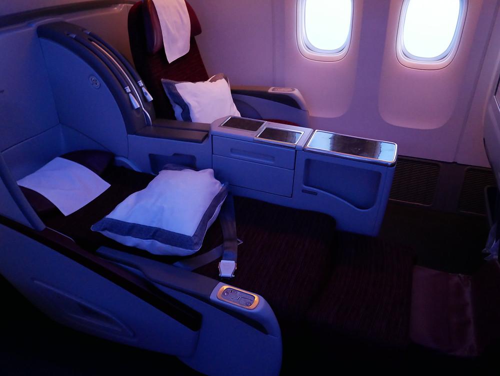 カタール航空 機内