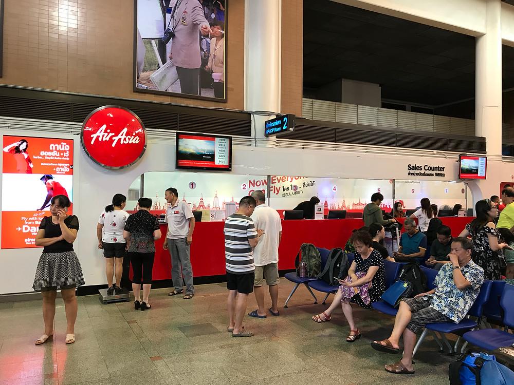 バンコク ドンムアン空港 エアアジアカウンター