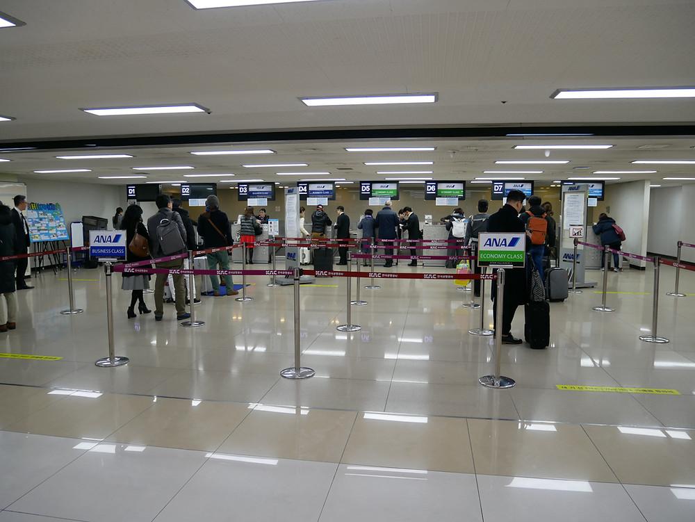 ソウル 金浦空港 ANAチェックインカウンター