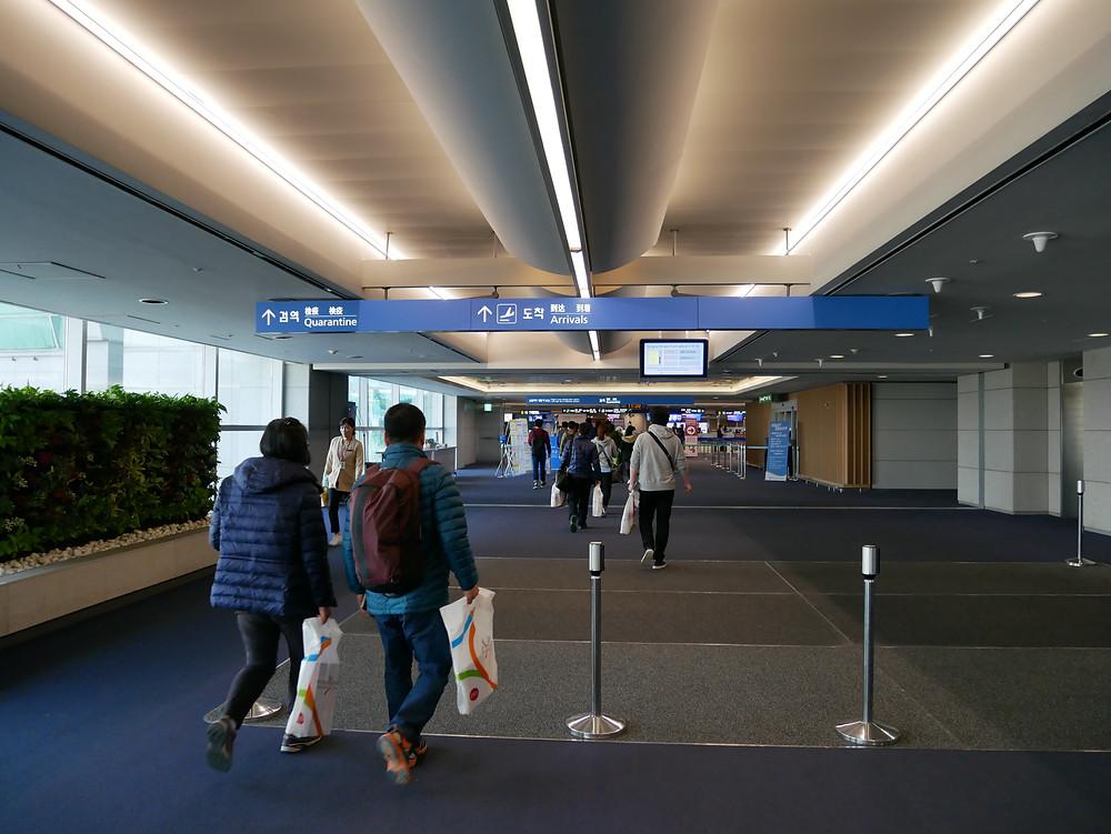 ソウル 仁川空港 到着