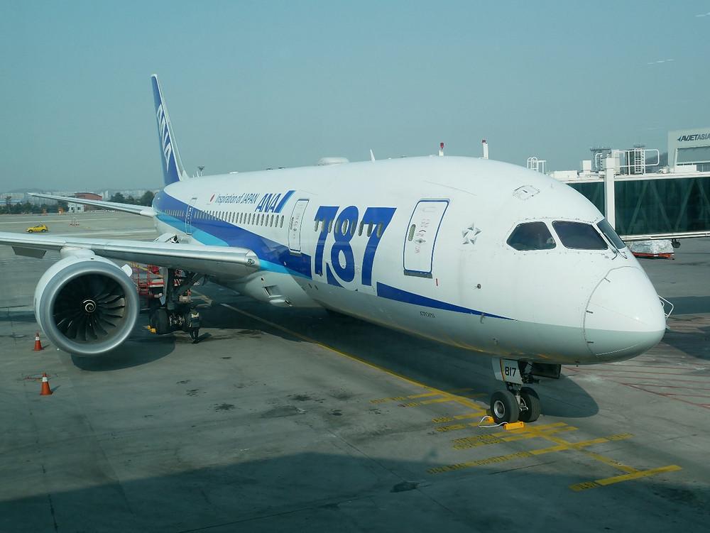 ソウル 金浦空港 ANA 787