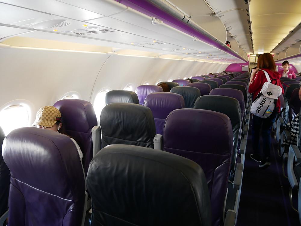 ピーチ 成田~関西 A320 機内