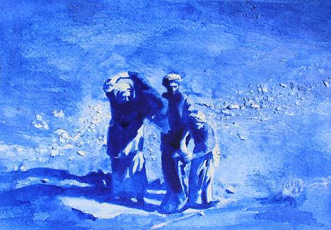 Edith Dormandy, 'Mujahideen',2019, watercolour on paper, 14x19cm