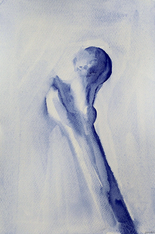 Edith Dormandy, 'Femur', 2018, watercolour on paper, 19x14cm