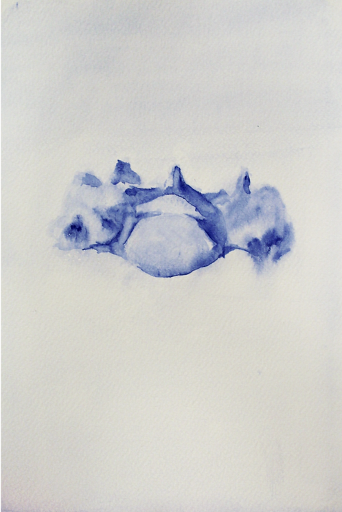 Edith Dormandy, 'Vertebra', 2018, watercolour on paper, 19x14cm