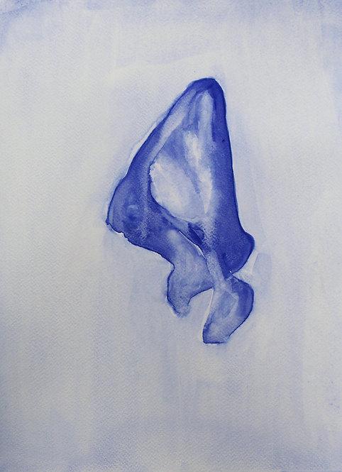 Edith Dormandy, 'Scapula', 2018, watercolour on paper, 28x19cm
