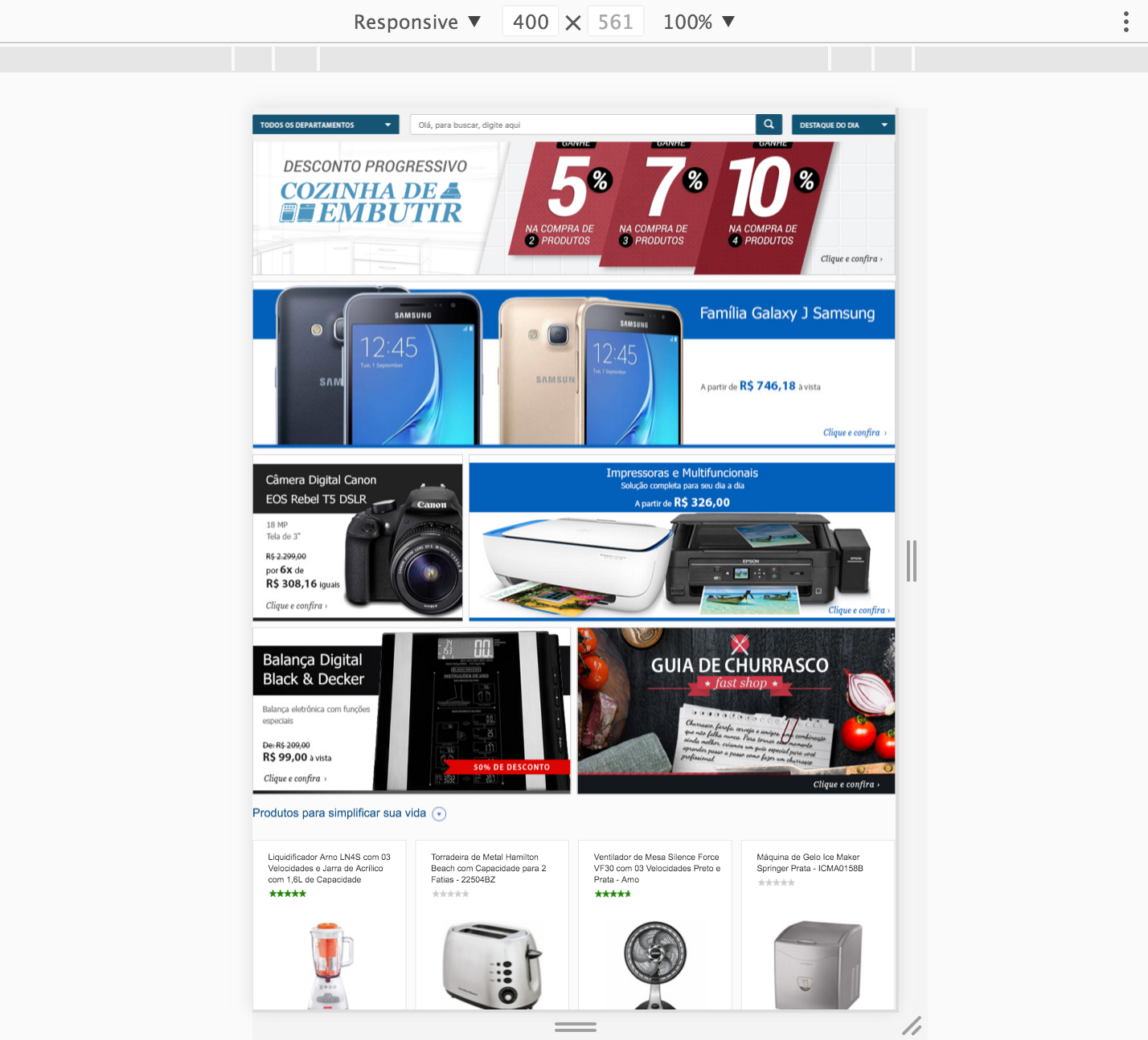 Home Page Tablet Responsive