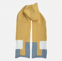 Kid's scarf B.M. yellow, grey, white