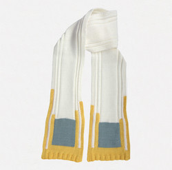 Kid's scarf B.M. square yellow, grey, white