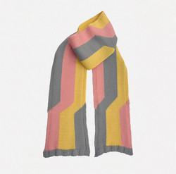 Kid's scarf E.S. tricolore, pink, yellow, grey