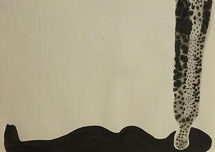 Tusche, Körper, Flüssigkeit, Verdauung, Schwarz, Zeichnung, Stefanie Salzburger