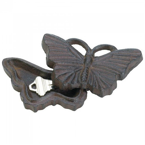 Cast Iron Butterfly Key Hider