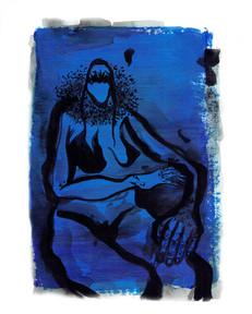 Blue Tudor Collar. 2020 Painting