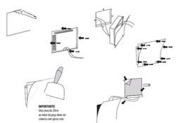 Manual de instrução para instalação da arandela Div. O passo a passo detalhado explica a aplicação d