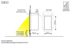 Detalhe aplicação luminária Tip
