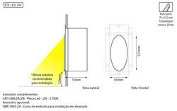Detalhe aplicação luminária Huevo