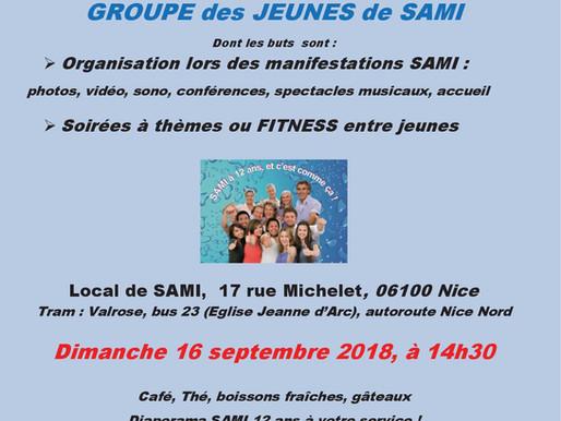 Lancement du GROUPE JEUNES de L'Association SAMI